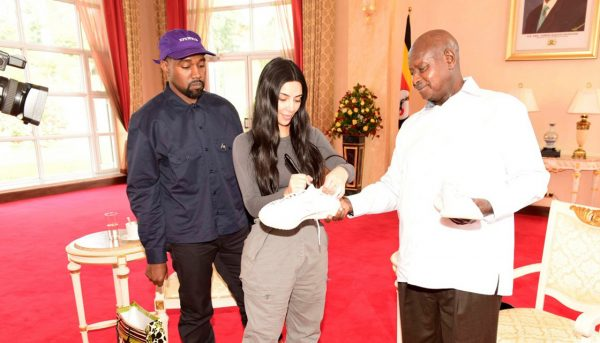 KimYe Bring the Gift of Yeezys to Uganda.